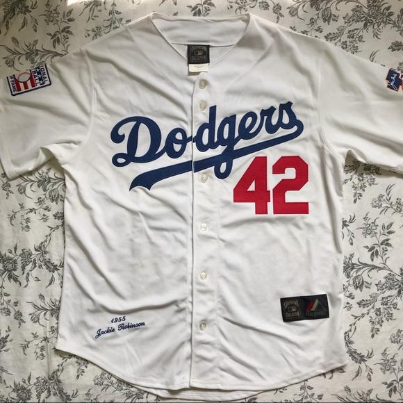 2ddd67f5 MLB Majestic Jackie Robinson Dodgers Jersey. M_5b8081f99264af6ac4eff8ae